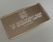 Silver Ingot Mint Condition 40 grms Bank Singapore Minted by John Pinches