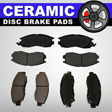 FRONT + REAR Ceramic Disc Brake Pads 2 Sets Fits Nissan Frontier, Nissan Xterra