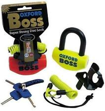 Oxford Boss Orange Motorcycle Thatcham Sold Secure Motorbike Disc Lock OF38 T