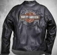 Harley Davidson Mens ROADWAY Black Leather Jacket Bar & Shield XL 98015-10VM New