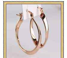 18ct gold filled pop style Snap Closure hoop earring medium, large Earrings