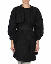 MIU MIU (PRADA) Black Faille Trench Coat Size IT 40 / US 4 / FR 36 / UK 8 $1,895