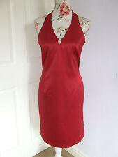 beautiful stretch satin haterneck cocktail/evening dress size 12