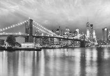 Wall Mural photo Wallpaper 368x254cm Brooklyn bridge New York black & white