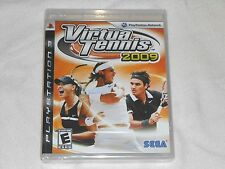 NEW Virtua Tennis 2009 Playstation 3 Game SEALED PS3 Sega virtual tenis 09 NTSC