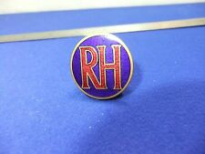vtg badge RH ruston hornsby ? steam diesel train engines ? or hunt supporters ?