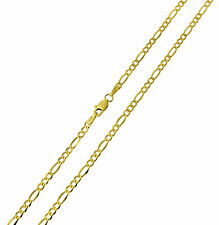 14K Yellow Gold 2.5mm Figaro 3+1 Hollow Chain Necklace - 22 Inches