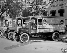 Photograph Vintage Manhattan Laundry Service Delivery Truck Year 1924  8x10