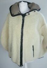 bnwt MIU MIU inside out sheepskin shearling hooded jacket.sz 42.uk 10-12. £2190