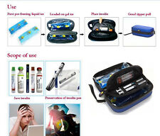 Insulin cooler bag portable refrigerator drug freezer ice bag with two icegels