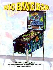 Pinball Mfg. Inc. BIG BANG BAR Remake Of Capcom Pinball Machine Sales Flyer Mint