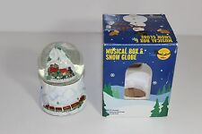 """collectible Snow Musical Globe 6"""" tall w box fun holiday decoration"""