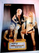 ORANGE AMPLIFIERS ORANGE GIRLS HOT SEXY PLAYBOY COLOR POSTER
