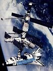 SPACE SHUTTLE ATLANTIS DOCKED RUSSIAN MIR SPACE STATION ART PRINT POSTER 406PYB
