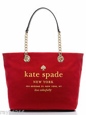NWT Kate Spade East Broadway Small Coal in Dynasty Red Tote Chain Handles