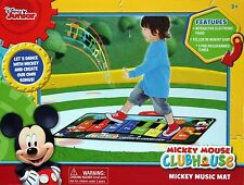 Disney Mickey Mouse Interactive Electronic Step On Piano Music Mat - NEW