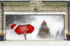 Merry Christmas Garage Door Covers Banners Outside New Year Decor Home GD118