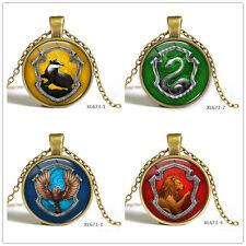 Harry Potter Time Gem Badge Glass Photo Art Pendant Bronze Chain Necklace Gift