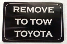 Remove to Tow Toyota, Billet Aluminum Hitch Cover,   4x6,  Made In USA