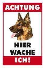Blechschild - DEUTSCHER SCHÄFERHUND -  HIER WACHE ICH -  20x30 cm 23007