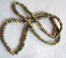 Vintage Swirled  Trade Bead Necklace