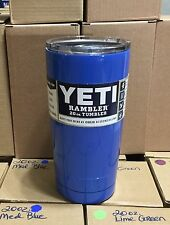 Medium Blue, Periwinkle Stainless Steel Tumbler Yeti, RTIC 20 Oz. Cup,