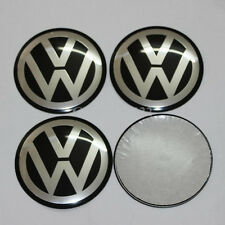 4x Stickers Caps 65mm VW Volkswagen Centre Hub Wheel Cap Emblem Black, UK Stock