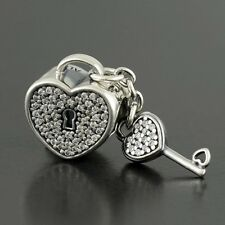 New Authentic 925 Pandora Charms LOCK OF LOVE, CLEAR CZ No.791429CZ