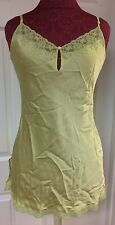 Victoria's Secret Green Lace 100% Silk Night Gown Lingerie Sz Medium Sexy Womens