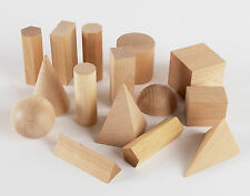 En bois à motifs géométriques solides 3-D formes montessori learning resources for home school