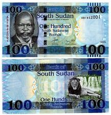 South Sudan 100 Pounds Uncirculated 2015