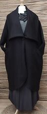 LAGENLOOK*KEKOO*OVERSIZE BEAUTIFUL QUIRKY 2 POCKETS LONG COAT*BLACK* XXL-XXXL