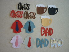 PACK OF 20 SIZZIX DIECUT MEN'S TOPPERS