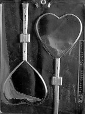 LARGE PLAIN HEART LOLLY Chocolate Candy molds customize your own decorate hearts