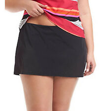 Jag Sport Skirt/Swimsuit Skirt Bottoms with Brief Panty Hi-Lo 20W JGSS6658 Black