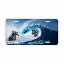 """Bears Fishing In The Waves Novelty License Plate 6"""" x 12"""" Aluminum Plate"""