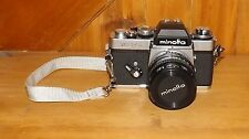 Vintage Minolta XE-5 35mm Camera With Manuals MD Rokkor-X 50mm /1:17 Lens