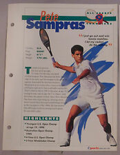 PETE SAMPRAS #9 TENNIS CHAMPIONS SPORTS HEROES BOOKLET