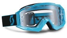 MASCHERA MASCHERINA OCCHIALI MX CROSS SCOTT HUSTLE BLU BLACK CLEAR ANTIFOG