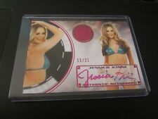 Jessica Kinni Autographed/Signed Serial #'d 15/21 2014 Bench Warmer Trading Card