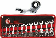 BGS Tools Combination Ratchet Ring Spanner Set Stubby Short 12-pc 30003
