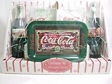 VTG COCA COLA CHRISTMAS '96 COLLECTABLE SERIES GIFT SET-2 CLASSIC BOTTLES ETC.