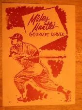 MICKEY MANTLE RESTAURANT MENU JOPLIN MO MISSOURI 1962 DINNER SPORTS STARS OLD