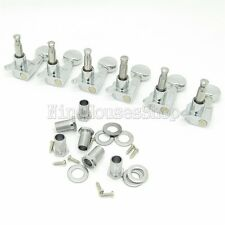 6 Right Electric Guitar Concave Button Machine heads Tuning Pegs Chrome