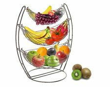 New 3 Tire Fruit Basket Rack Hammock, Stand Display Holder Hanger Storage, Metal
