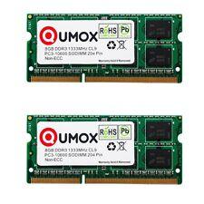 QUMOX 16GB(2x 8GB) DDR3 1333MHz PC3-10600 (204 PIN) SO-DIMM MEMORY 2 pices