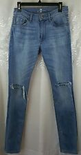7 for all mankind slimmy Blue jeans ripped distressed Mens size 28, 31 length