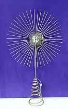 Gisela Graham Gold  Wire &  Bead  Star Christmas Tree Topper