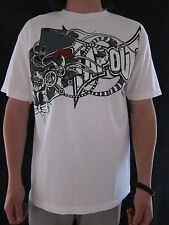 TAPOUT Top Hat Skull & Gears Mens 100% Cotton White T Shirt Size LARGE NWT