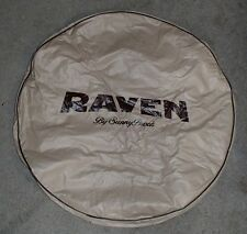 """*NEW* RAVEN BY SUNNY BOOK SPARE TIRE COVER 28"""" VINYL TAN/BROWN CAMPER TRAILER RV"""